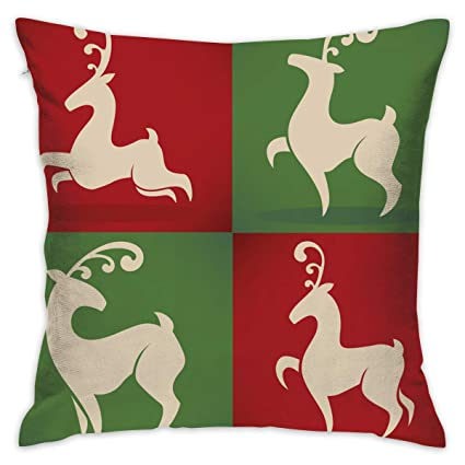 Astounding Amazon Com Eante Throw Pillow Cover Deer Decorative Pillows Inzonedesignstudio Interior Chair Design Inzonedesignstudiocom
