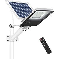 Farola Solar LED 100W para Exteriores, IP65 Impermeable Lámpara de Seguridad con Control Remoto, 1000lm Iluminación…
