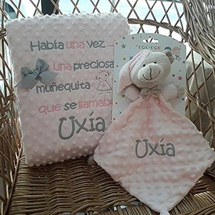 Manta Bebé Infantil Personalizada + Doudou Gamberritos con Nombre Bordado de BORDADOS LOYMAR