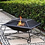 Hamilton 30'' Square Steel Fire Pit