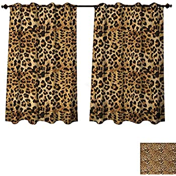 Amazon Com Seulife Window Sheer Curtain Animal Tiger