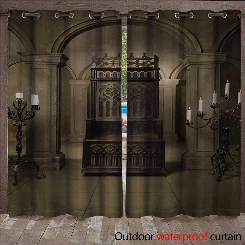 BlountDecor Panel de Cortina gótico con Ojales para Fotos de ...