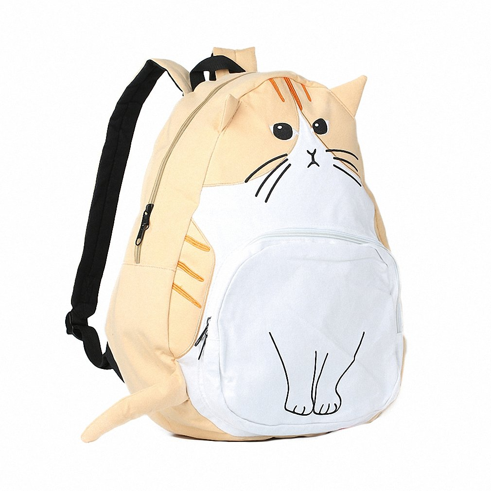 Amazon.com | sac a dos Ears Cute Cat Japan Women Backpacks for Teenage Girl School Bag Mochila Gato Animal Print Fashion Canvas Bagpack 435 Beige | Kids ...