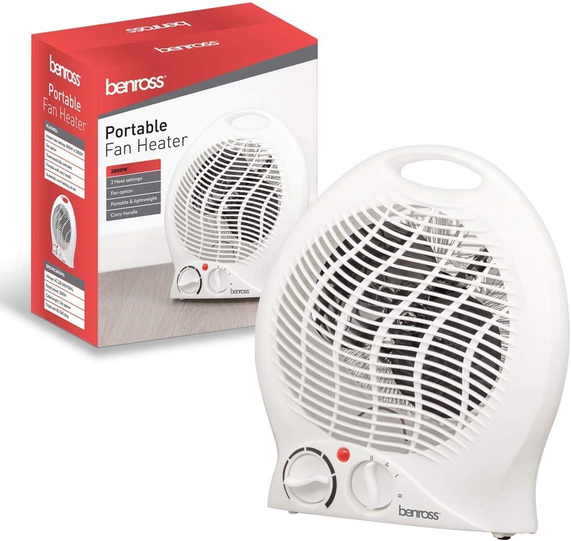BENROSS 2kw Fan Heater Small Portable