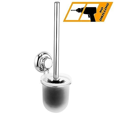 MaxHold Sistema de vacío Escobilla WC Baño - No-perforar - Acero inoxidable Nunca Moho - almacenamiento de la cocina&baño