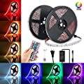 LED Strip Lights Elfeland 10m 300 Leds SMD5050 RGB Strip Lights IP65 Waterproof Rope Lights Color Changing Flexible Tape Light Kit with 44 Keys IR Remote Controller & 12V 4A Power Supply