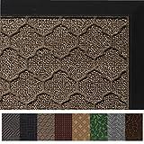 Gorilla Grip Original Durable All-Natural Rubber Door Mat, Heavy Duty Doormat for Indoor Outdoor, Waterproof, Easy Clean, Low-Profile Rug Mats for Entry, Garage, Patio, High Traffic Areas