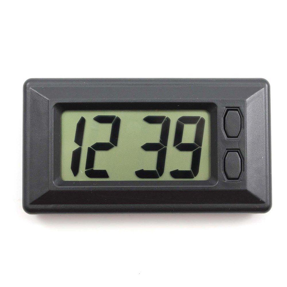SODIAL(R) Ultra-thin LCD Digital Display Vehicle Car Dashboard Clock with Calendar Cool 110152