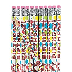 Fun Express Wooden Happy Birthday Pencil...