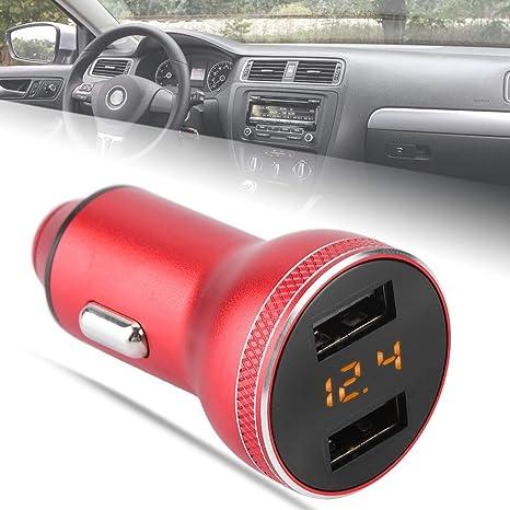 Naroote Cargador de Coche con Doble USB,Detector de Voltaje ...