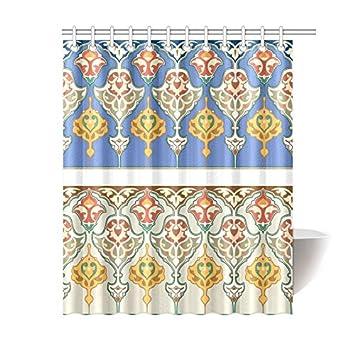 Shower Curtain Custom Print Arabesque Islamic Art Waterproof Fabric  Polyester Bathroom Decoration 60u0026quot ...