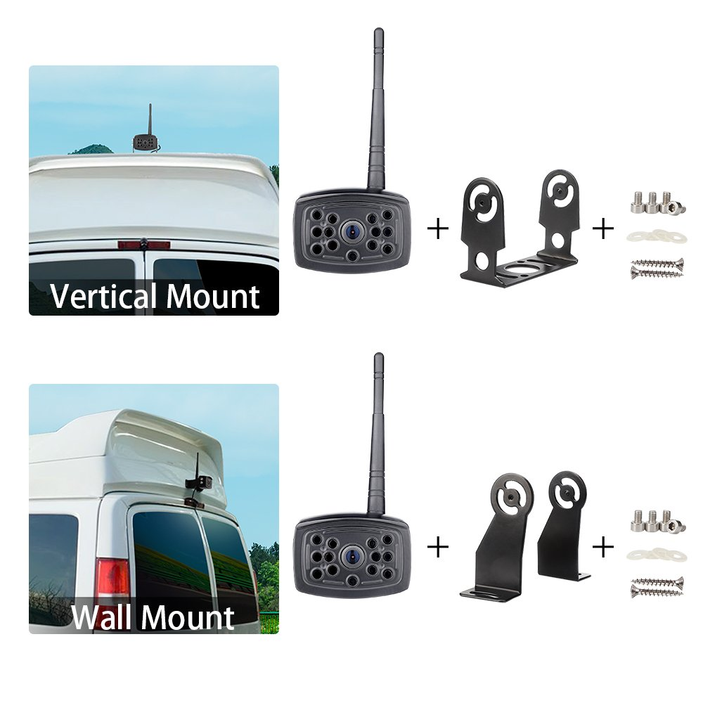 【2nd Generation】 SVTCAM SV-612W Wireless Backup Camera, Waterproof Night Vision Wireless Rear View Camera for Trucks/Trailers/Camper/5th Wheel. WiFi Backup Camera Works with iOS and Android Device by SVTCAM (Image #4)