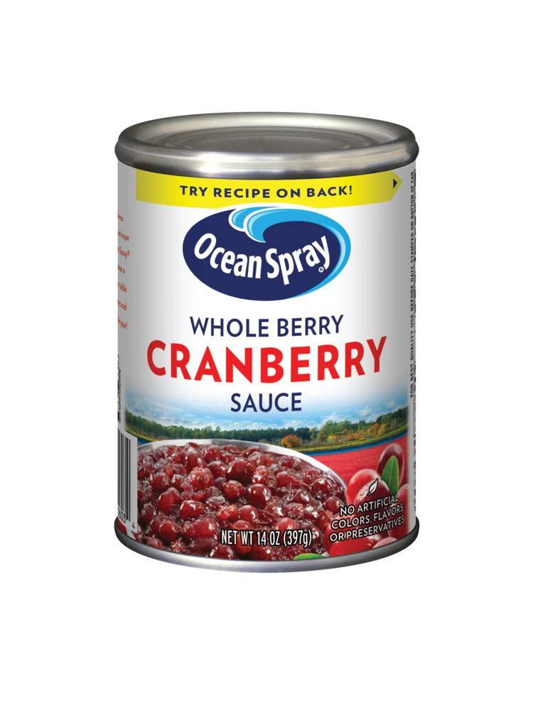 Ocean Spray Whole Berry Cranberry Sauce, 14 Ounce Can