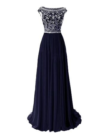 Amazon.com: PromQueen Womens Elegant Long Bridesmaid Cap Sleeve Prom Evening Dresses: Clothing