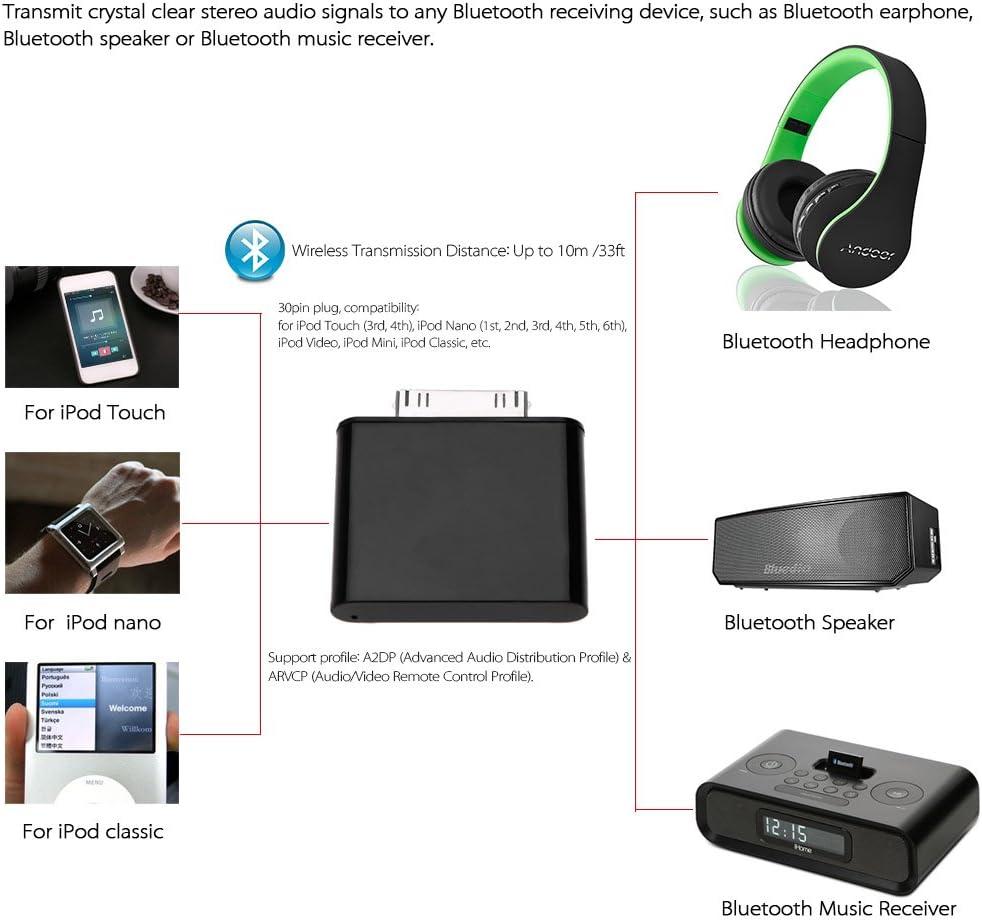 Festnight Adaptador BT Dongle Dongle para iPod Mini iPod Nano Touch Video