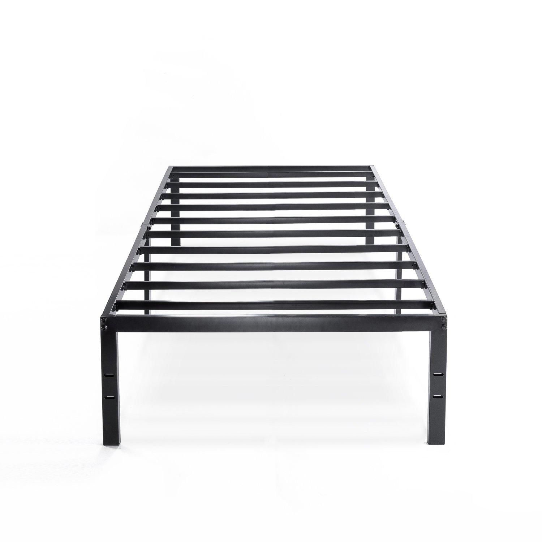 Best Price Mattress Twin Bed Frame - 14 Inch Metal Platform Beds w/Heavy Duty Steel Slat Mattress Foundation (No Box Spring Needed), Black