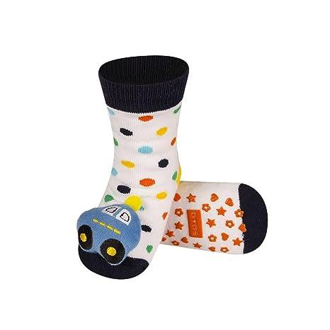 Bbkdom - Calcetines de bebé con sonajero 3D, antideslizantes ...