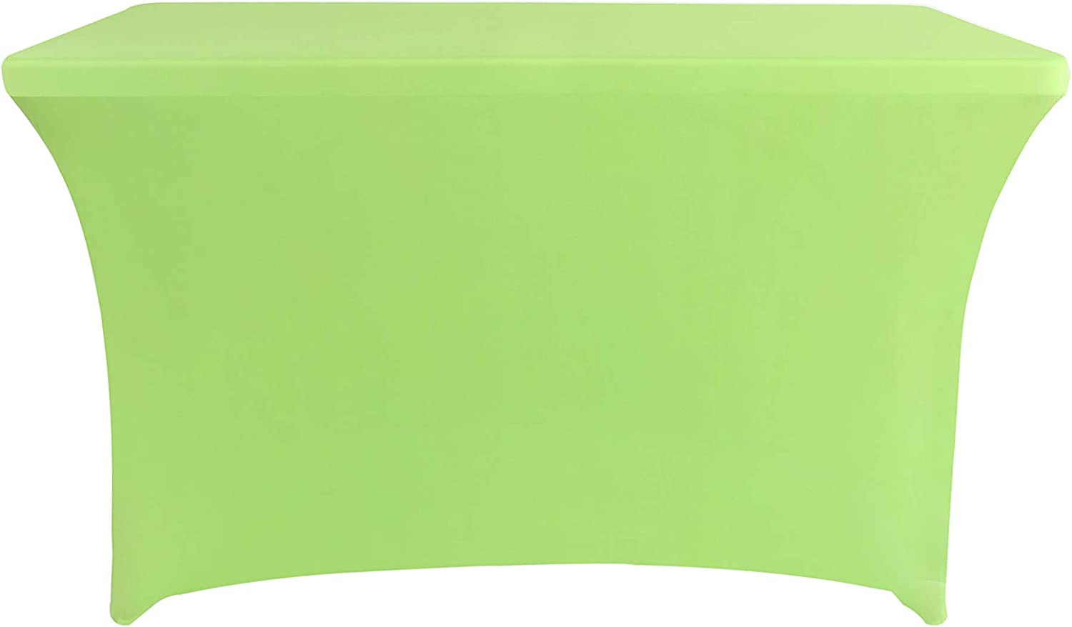 Rectangular Stretch Spandex Table Cover Fitted Tablecloth for Wedding Party Events (4ft, Apple Green)