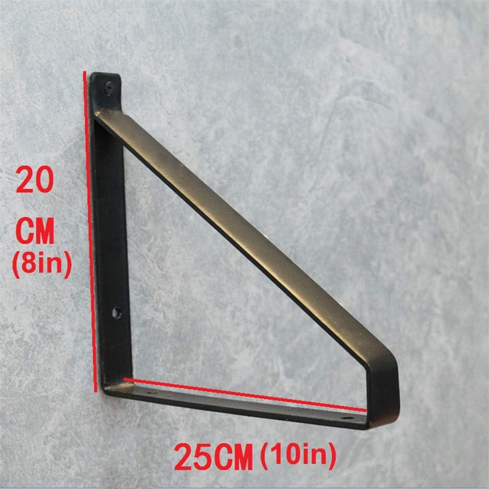 HRD Soporte de Estante de Pared Resistente,20cm//25cm//30cm,Espesor 4 mm,Soportes de estanter/ía Triangulares,Estantes de Hierro,Carga de 50 kg,2 Piezas