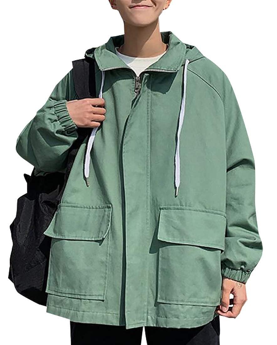 a215a11ec Lingt Green Emastor Men's Outdoor Multi Multi Multi Pockets Quick Dry  Hooded Jacket Windbreaker 4fca3d