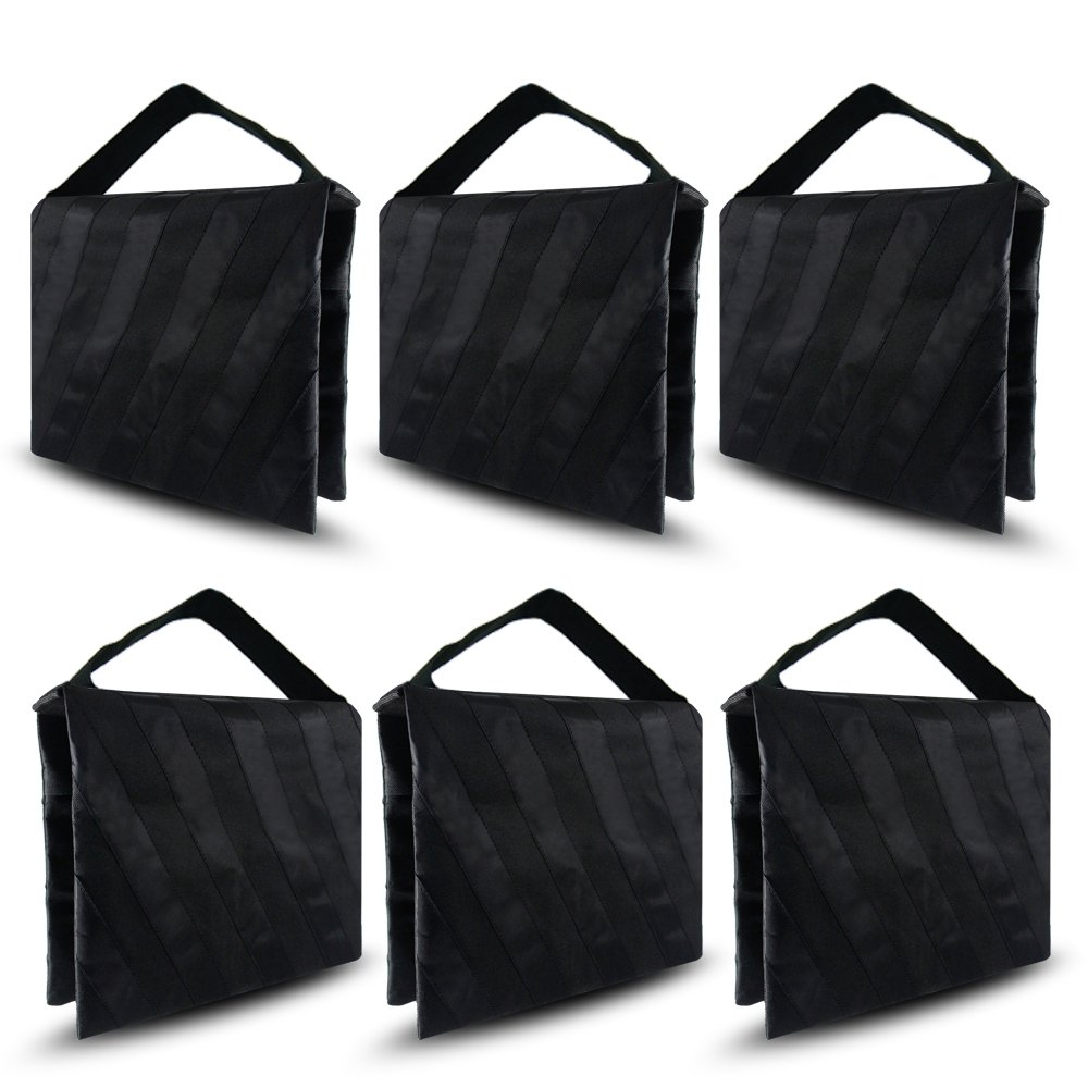 6-Pack Photographic Sand Bag, Black and Gray Stripe, Video and Photo Studio Equipment by Orange Lighting