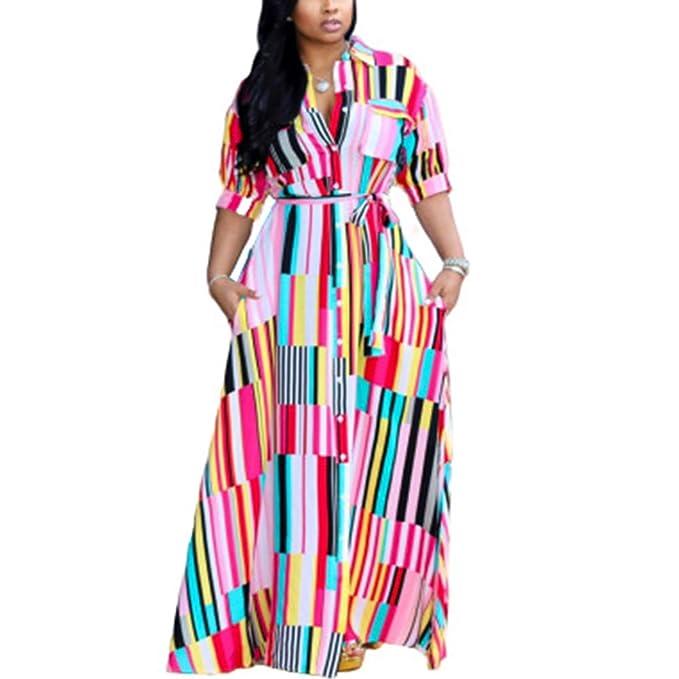 IyMoo Plus Size Boho Dresses - Women Summer Print Beach Dress Country Style  Loose Casual Dresses