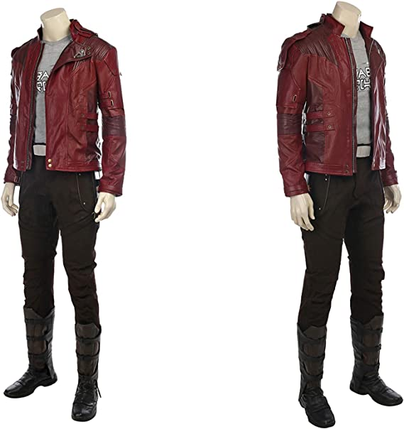 QWEASZER Guardianes 2 Star-Lord Disfraz Adulto Marvel Avengers ...