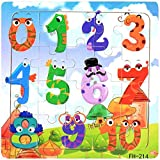 Facial Recognition Os X - DZT1968 22kinds Wooden Puzzle cartoon Educational Development Baby Training Toy Christmas Gift (b)