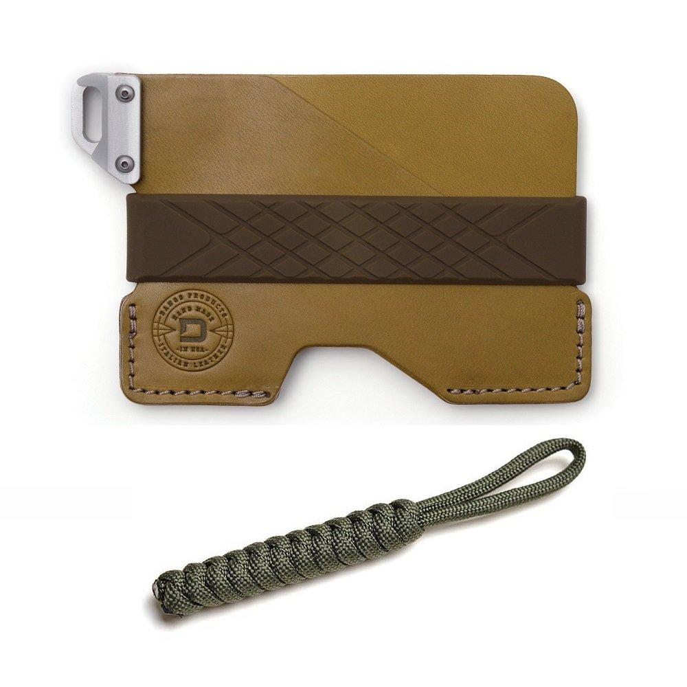 DANGO Civilian Wallet C01 カードケース ウォレット 財布 パラコード ストラップセット [並行輸入品] B07BHPWR2P Moss Green Moss Green
