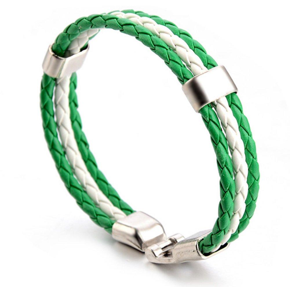 サッカーファンスポーツNational Flag PU手首bracelet-10 Nations Available B07DC2JKPY  Nigeria
