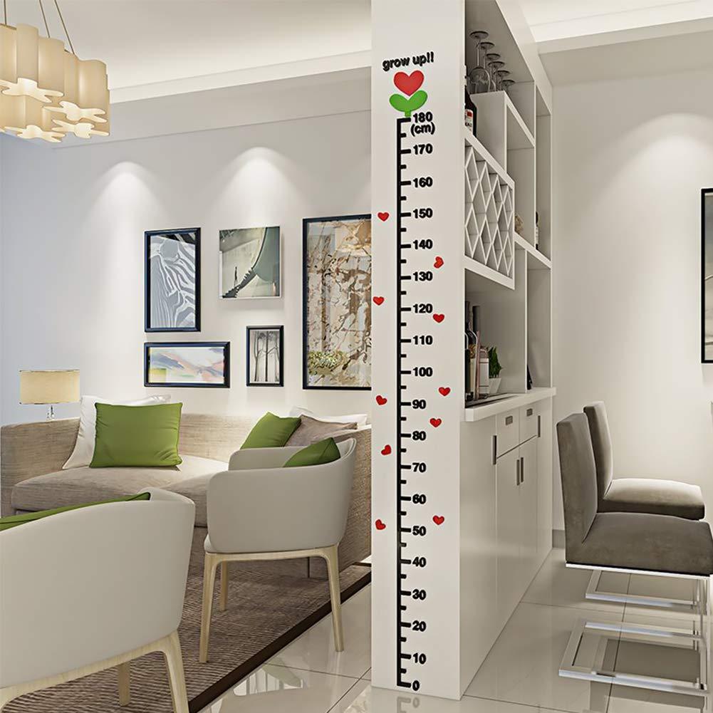 Xiton Acrylique Enfants Toise Chambre Kid R/ègle Mesure Graphique 0~180 cm Hauteur Bricolage 3D Croissance Wall Sticker