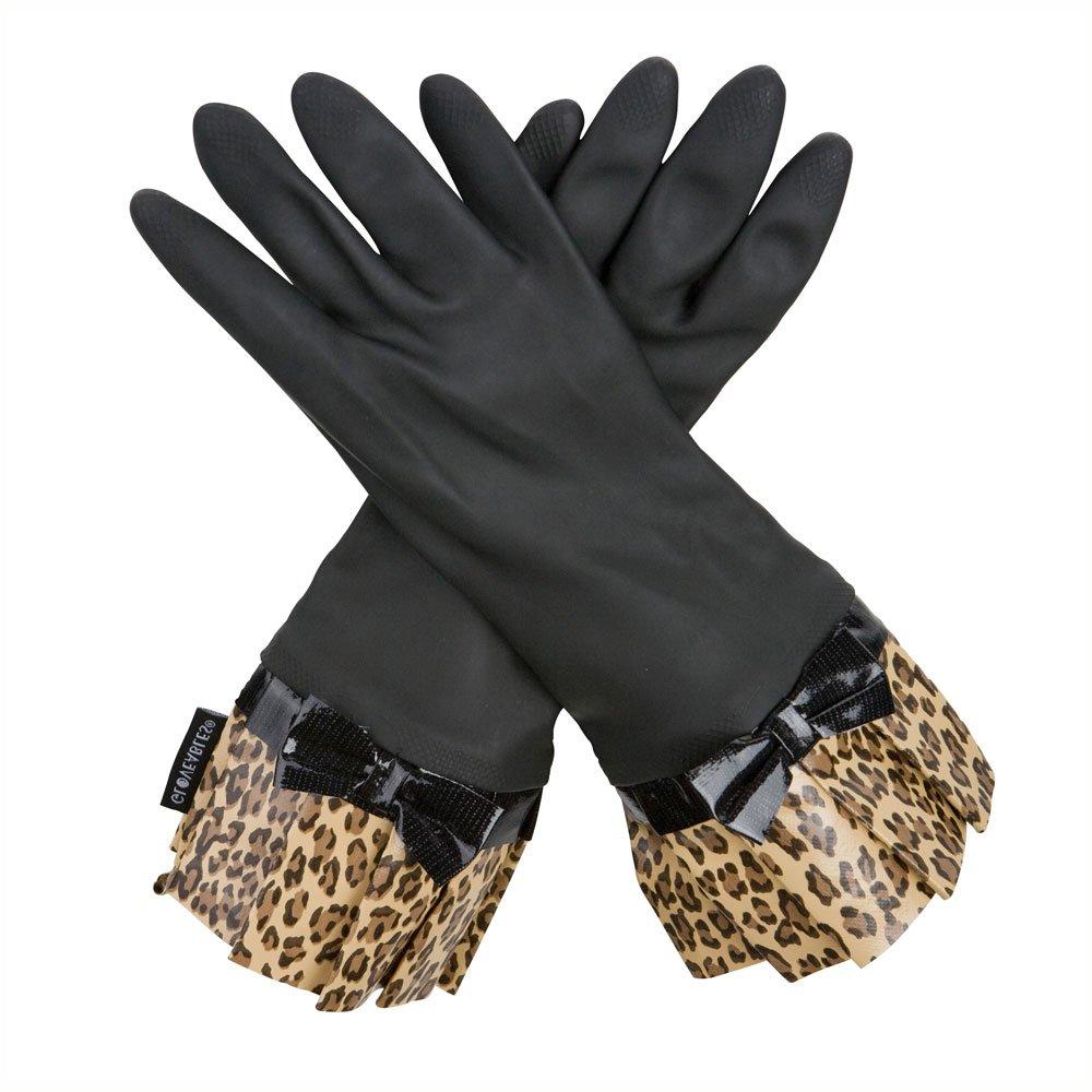 Black gloves with leopard trim - Amazon Com Black Fashion Gloves With Leopard Cuff And Bow By Gloveables Home Kitchen