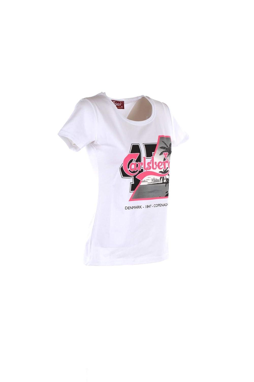 Carlsberg T-Shirt Donna M Bianco Cbd3250 Primavera Estate 2019