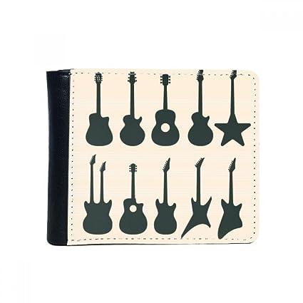 DIYthinker Guitarra eléctrica Música vitalidad Suena tirón Plegable de imitación de la Carpeta de Cuero de