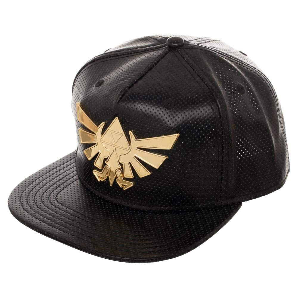 9903360b Amazon.com: Bioworld Legend of Zelda Gold Metal Logo Snapback Hat: Clothing