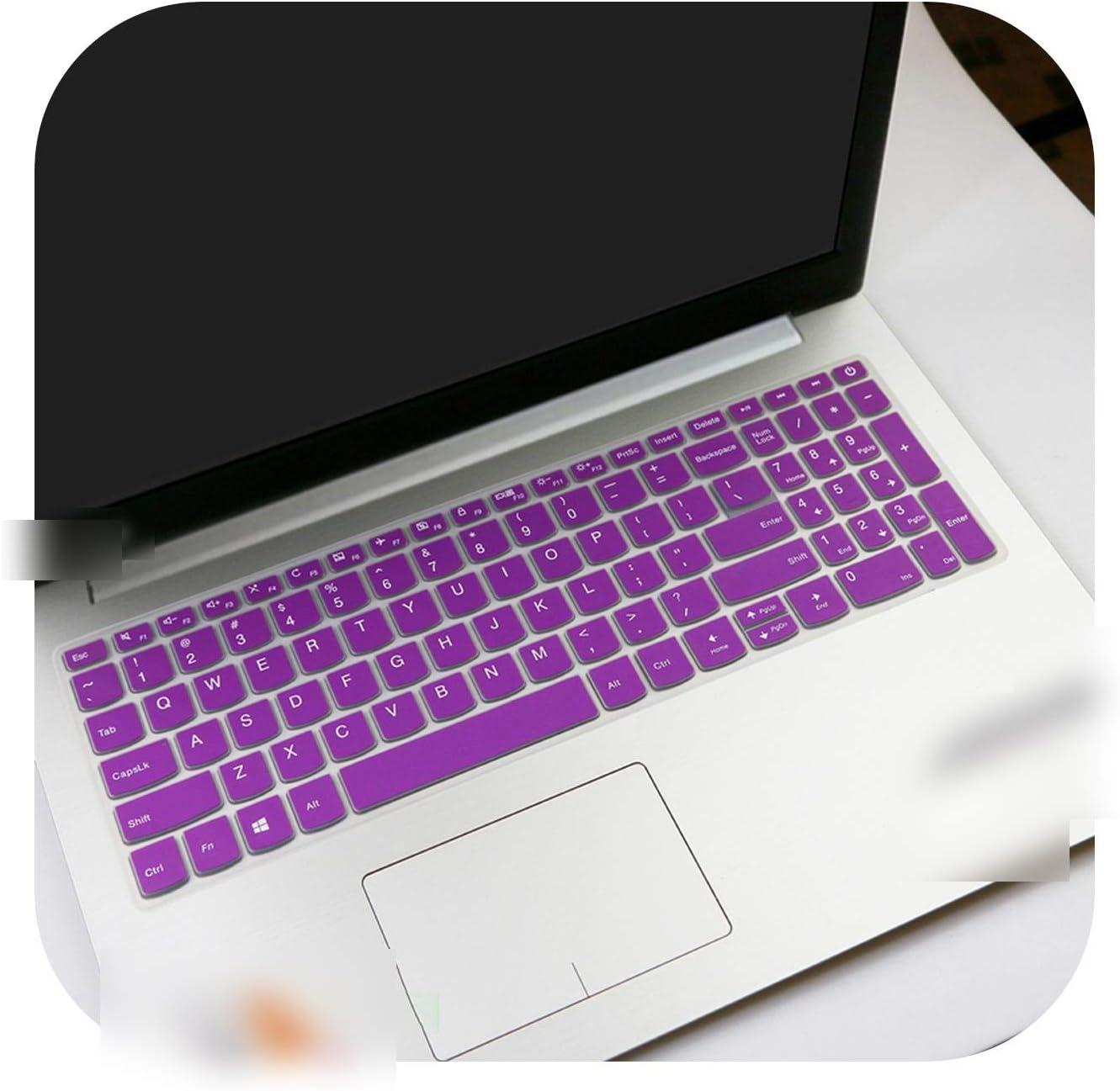 for Lenovo Ideapad V130 V130 15Igm V130 15Ikb V730 520 15Ikb Flex 5 15.6 15 15.6 Inch Laptop Keyboard Cover Skin Protector-Purple