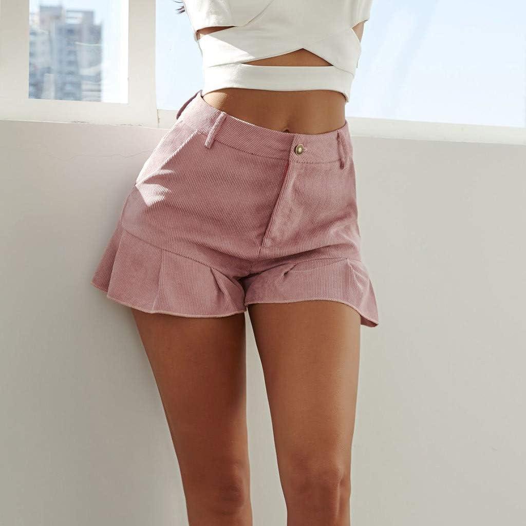 Womens Pocket Ruffle Short Pants Clearance Sale!