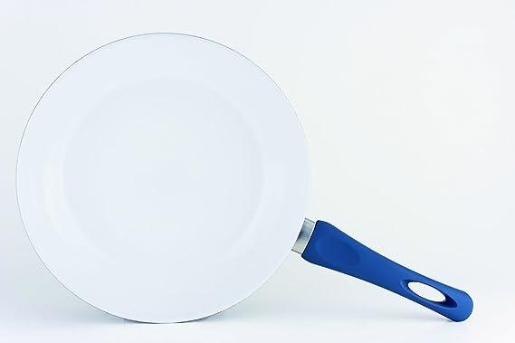 DARNA M140402 - Sarten ceramica tirol 26 cm blanco-azul: Amazon.es: Hogar