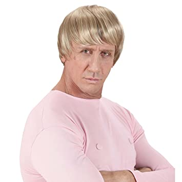 Príncipe peluca Hombre Pelo Corto peluca rubio cuento Señor peluca Príncipe Carnaval peluca Beach Boy Surfer