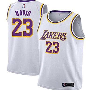 ZOULYD Temporada NBA Jersey Lakers # 23 Anthony Davis Jersey ...