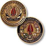 US Army Special Operations Command Sine Pari Challenge Coin