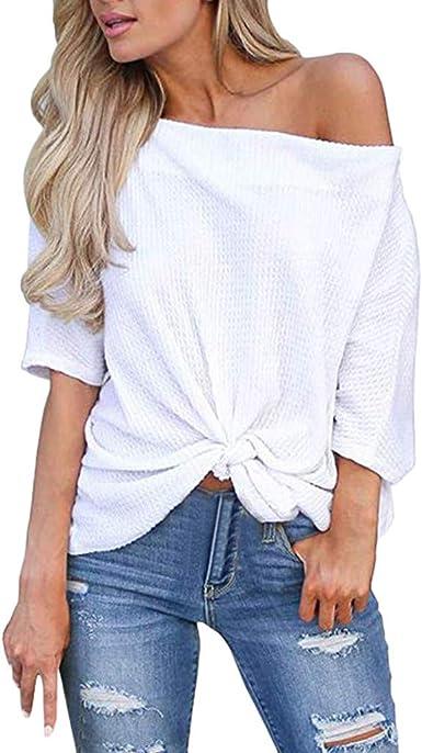 Poachers Camisetas Mujer Manga Corta Originales Tops Mujer Fiesta Sexy Blusas para Mujer Elegantes Tallas Grandes Camisas Mujer Verano 2019 Blusas Mujer Boda Tops Deportivo Mujer Prime: Amazon.es: Ropa y accesorios