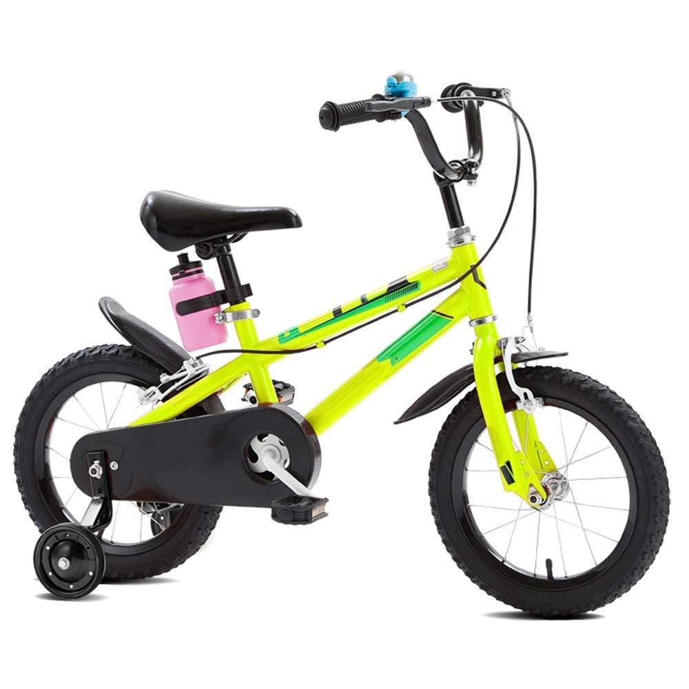 nuevo listado amarillo YUMEIGE YUMEIGE YUMEIGE Bicicletas Bici de 4 Colors con Rueda de Entrenamiento 12 14  16 18  con hervidor Disponible (Color   blanco, Talla   18in) 12in  compras de moda online
