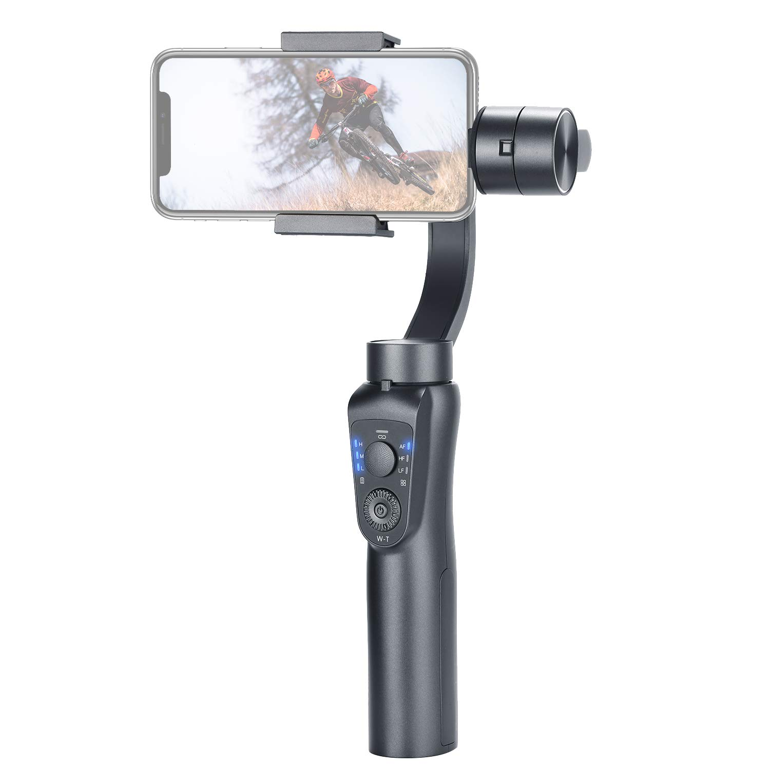 Neewer Gimbal 3-Axis Handheld Stabilizer with Zoom Control Auto Tracking 2 USB Charging Ways for iPhoneXs Max Xr X 8 Plus 8 7 6, Smartphone Samsung Galaxy S9+ S9 S8+ S8 S7 Huawei by Neewer