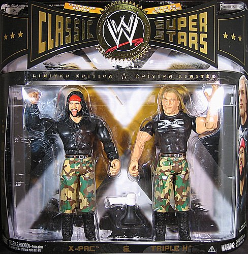 - TRIPLE H & X-PAC - CLASSIC SUPERSTARS 2-PACK EXCLUSIVE WWE TOY WRESTLING ACTION FIGURES