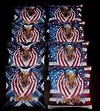 USA FLAG PATRIOTIC BALD EAGLE FREEDOM 8 ACA regulation custom Cornhole bags B118