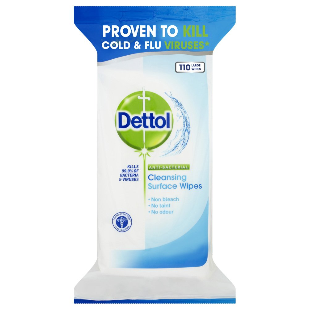Dettol Antibacterial Surface Cleaning Wipes, 330 Wipes, Pack of 3 x 110 Reckitt Benckiser 3052941