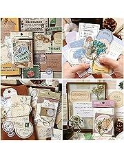 120 Piece Vintage Scrapbook Stickers, Antique Stickers Parchment Old Retro Scrapbooking Paper for Art Journaling, DIY Crafts, Bullet Journals, Planners, Scrapbooking Supplies