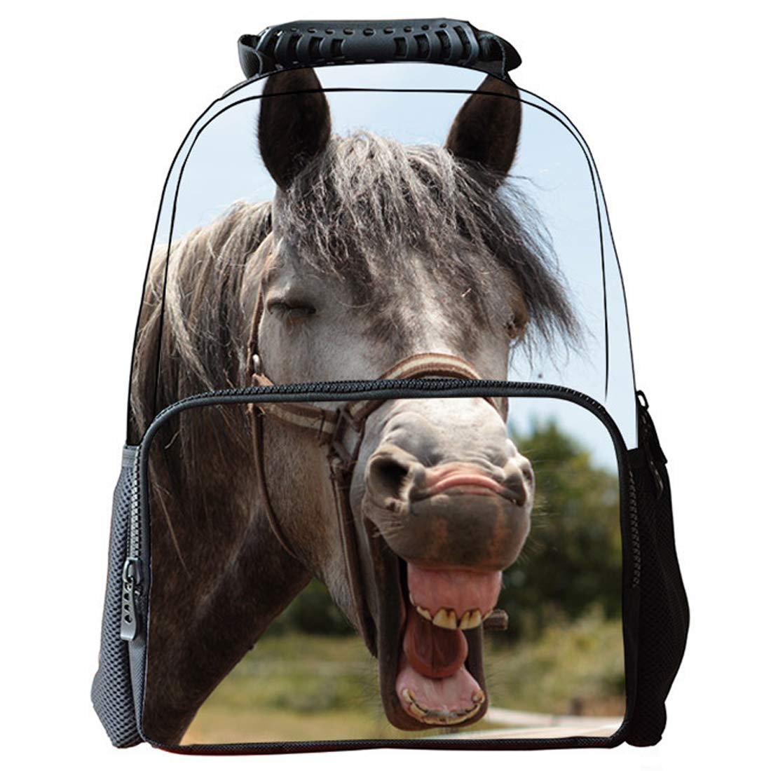 KELUOSI Sac Cheval Cartable Cheval Sac a Dos Animaux Sac a Dos coll/ège Animal Couleur-01