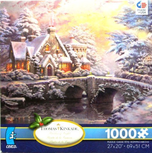 THOMAS KINKADE Painter of Light Winter at Lamplight Manor 1000 Piece Jigsaw Puzzle MADE IN USA